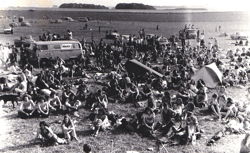 The Stonehenge Free Festival in 1975, a photo from the Flickr page of Basil and Tracy Brooks. Basil played with Zorch, who played the first two festivals in 1974 and 1975.