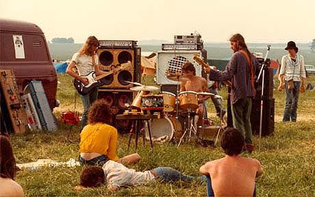 A photo from the Stonehenge Free Festival in 1983 (Photo by Luke B.)