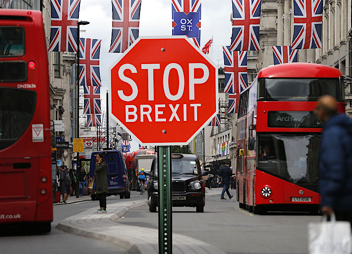 Stop Brexit: a composite image produced last June by Marketwatch.