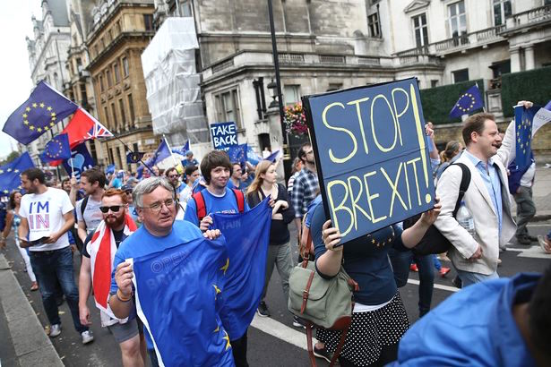 Stop Brexit: a placard from the March for Europe in London on September 3, 2016 (Photo: AFP).