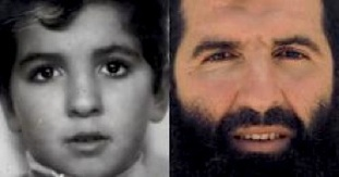 Guantanamo prisoner Sufyian Barhoumi as a boy and as a prisoner in Guantanamo, in a composite photo made available by his lawyers at the Center for Constitutional Rights.