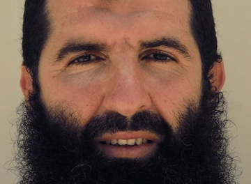 Sufyian Barhoumi, in a photo taken at Guantanamo in 2009 by representatives of the International Committee of the Red Cross, and made available by his family.