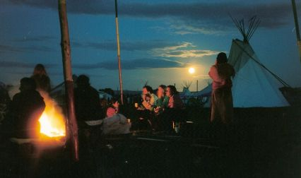 Sunset at the SuperSpirit camp, August 2004 (photo by Andy Worthington)