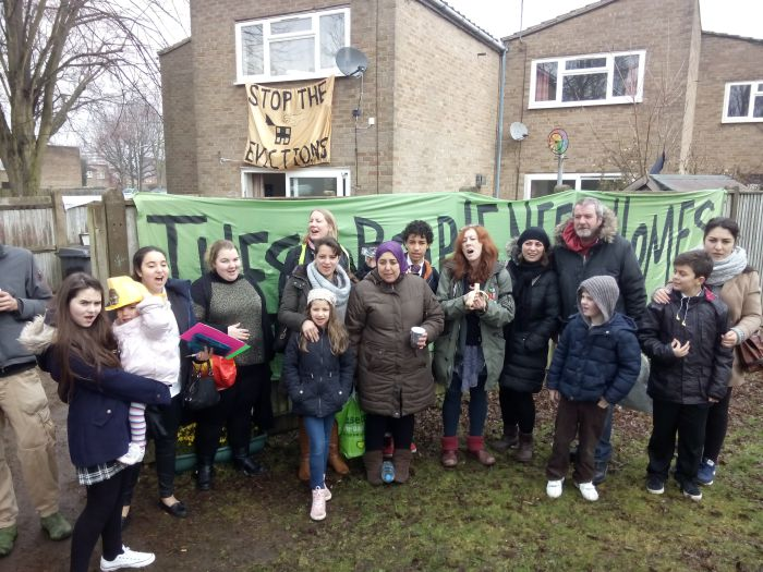 Tenants of Sweets Way Estate in Barnet resisting eviction and the demolition of their homes (Photo via Sweets Way Resists).