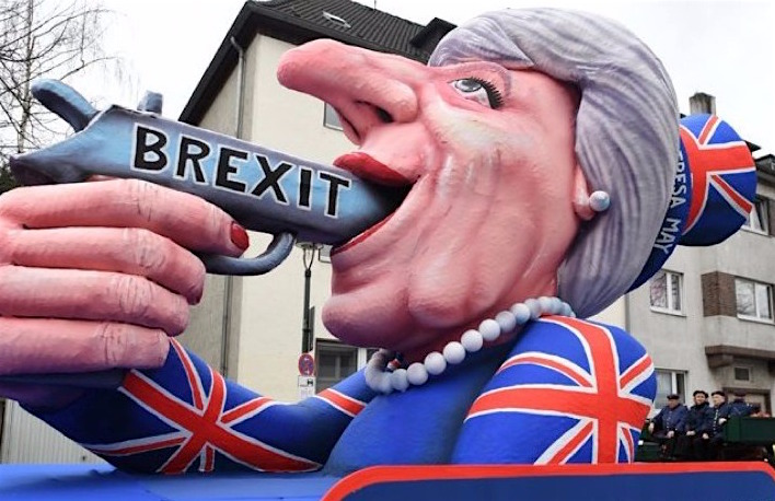 The Theresa May Brexit float, set up by campaigners for the UK to remain in the EU.