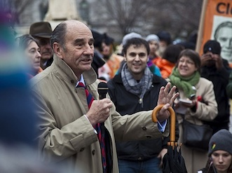 Tom Wilner calling for the closure of Guantanamo outside the Supreme Court on January 11, 2012, the 10th anniversary of the prison's opening.