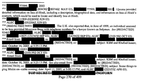 An excerpt from the executive summary of the Senate Intelligence Committee's report into the CIA's post-9/11 torture program, showing some of the redactions.
