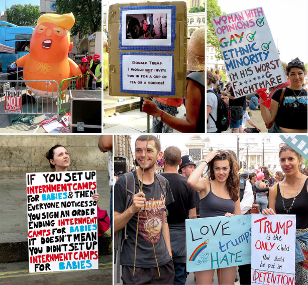 Some of my photos from the protest in London against Donald Trump's UK visit on July 13, 2018.