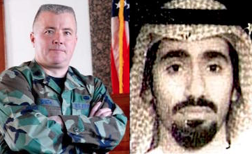 Col. Vance Spath and Abd al-Rahim al-Nashiri, both at the heart of a meltdown in the military commission trial system at Guantanamo.