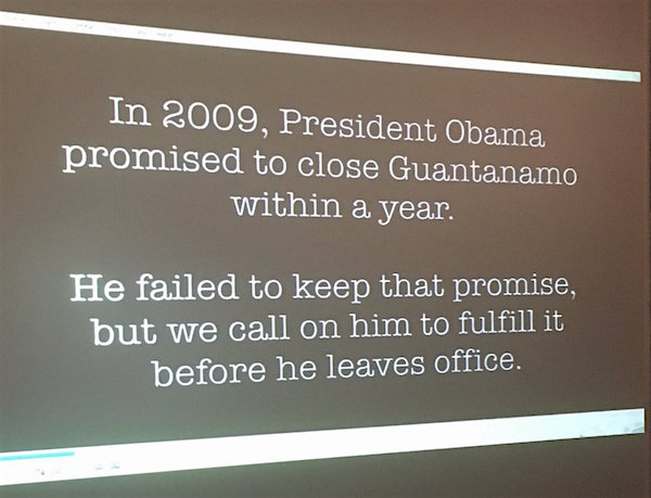 Text from the promotional video for the Close Guantanamo campaign, shown as a world exclusive at the University of Westminster on November 2, 2016. It will be released on November 10.