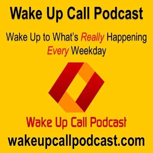 The logo for Wake-Up Call Podcast, run by Adam Camac and Daniel Laguros.