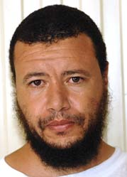 Younous Chekkouri (aka Younus Chekhouri), in a photo included in the classified US military documents (the Detainee Assessment Briefs) released by WikiLeaks in April 2011.