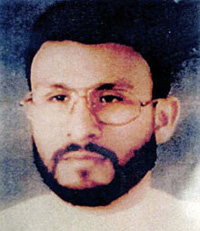 Abu Zubaydah, photographed before his capture in Pakistan on March 28, 2002. Subsequently held in secret CIA prisons for four and a half years, he has been held at Guantanamo, without charge or trial, since September 2006.