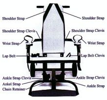 The restraint chair used on hunger strikers at Guantanamo